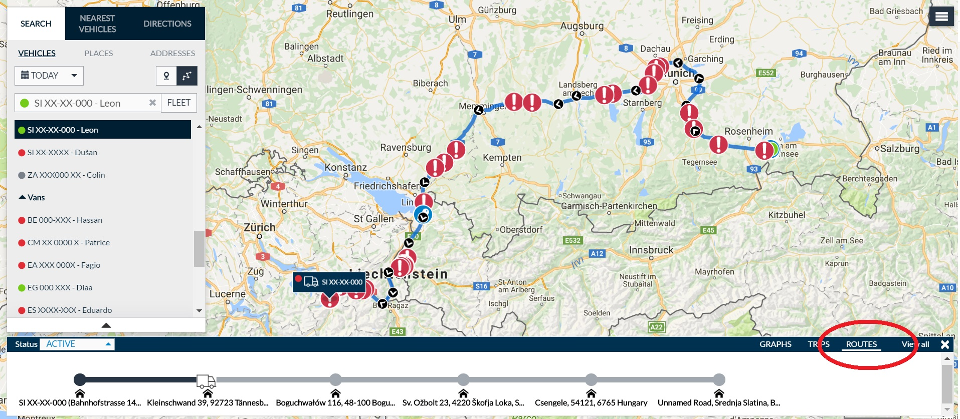 Routes - Tracking routes - Map view – Help Center on map a drive, map a distance, map a cut, map a process, map a course, map a run, map a path,