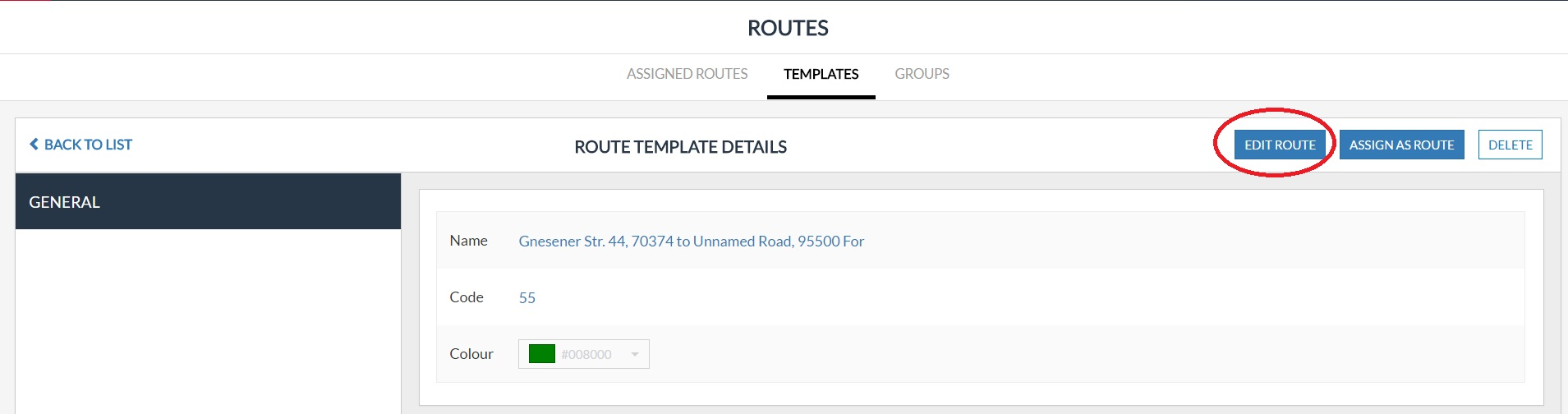 Routes How To Edit A Route Template Help Center